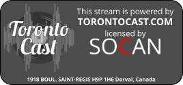 Torontocast, our official broadcast provider.